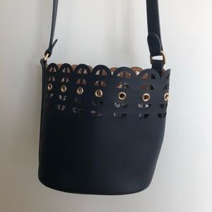 Stella & Dot Navy Blue Bucket Bag